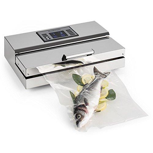 Klarstein FoodLocker-Chef - Envasador al vacío, Máquina de vacío, 20 L/min, Doble Soldadura,...