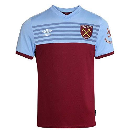 Umbro - Camiseta Unisex Infantil del West Ham Home Jersey S/S Jnr, Unisex niños, Jersey, 90301U, Kit, Large