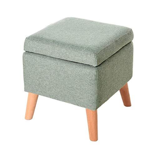 ykw Fußhocker Schuhwechsel Hocker Aufbewahrungsbox Cube Pouffe Chair Square