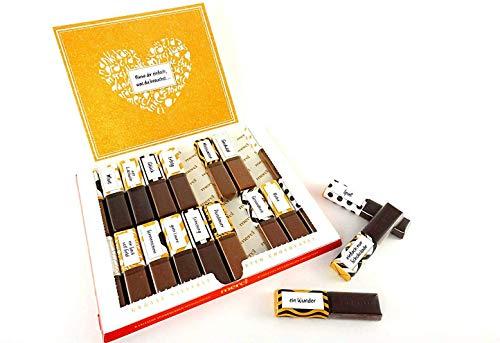 SURPRISA Aufkleberset für Merci-Schokolade: Die persönlichen Wünsche und das kreative Geschenk für Freunde und Familie