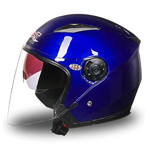 Casque moto homme et femme double protection UV (Couleur : B-Xl(58-60cm))