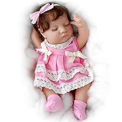 JIZHI 12 Inch Reborn Baby Dolls Full Body Vinyl Handmade Realistic Newborn Baby Dolls Sleeping Lifelike Baby Dolls Real Life Reborn Dolls Gift Toys for Kids Age 3+ by JIZHI