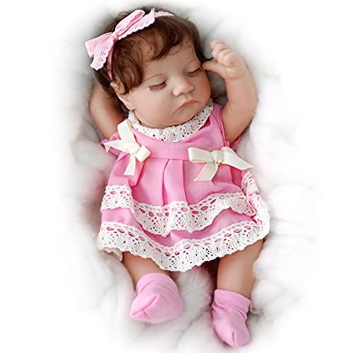 JIZHI 12 Inch Reborn Baby Dolls Full Body Vinyl Handmade Realistic Newborn Baby Dolls Sleeping Lifelike Baby Dolls Real Life Reborn Dolls Gift Toys for Kids Age 3+