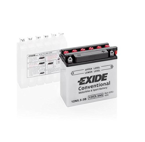 EXIDE 12N5, 5-3B Bike MIT Fresh Pack 12V 5,5AH 40A
