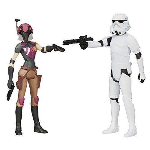 Star Wars Rebels – Sabine Wren & Stormtrooper – 2 Figurines 9 cm
