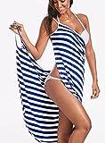 Toalla Textil para el hogar de Talla Grande, Batas de baño para Mujer, Vestido de Toalla a Rayas, para niñas, Secado rápido, SPA de Playa, Ropa de Dormir mágica para Dormir