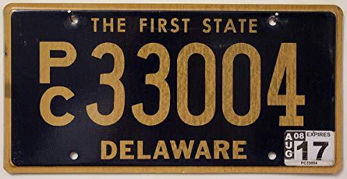 USA_Auswahl_von_Fahrzeugschildern : Nummernschild aus dem US Staat Delaware, USA Kennzeichen The First State, License Plate KFZ Schild