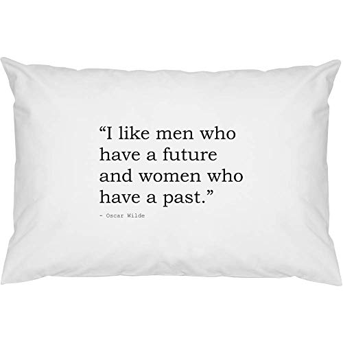 Azeeda 2 x Funny Quote By Oscar Wilde Cotton Pillow Cases (PW00001401)
