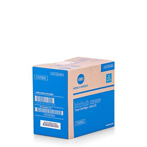 Konica Minolta Original A0X5454 / TNP-50 C, für Bizhub C 3100 P Premium Drucker-Kartusche, Cyan, 5000 Seiten