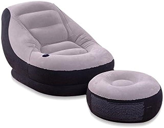 Chaise Longue Gonflable De Latex, Chaises Gonflables De Sofa D'intérieur Extérieur, Sofa d'air Imperméable avec Le Repose-Pieds