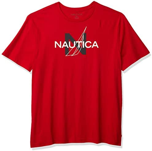 Nautica Men s Short Sleeve 100 Cotton Nautical Series Graphic Tee Red XX Large product image