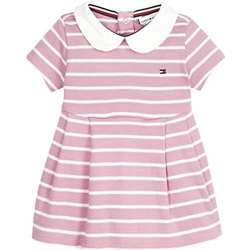 Tommy Hilfiger Baby Girl Rugby Stripe Dress S/s Blusa, Morado (Purple 0Eg), Talla única (Talla del Fabricante: 74) para Bebés