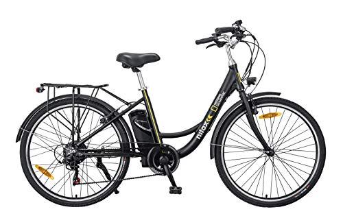 Nilox J5 National Geographic Bicicleta eléctrica, Unisex Adulto, Negro y Amarillo, M