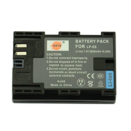 DSTE LP-E6 - Batteria ricaricabile agli ioni di litio per Canon EOS 5D Mark II, EOS 5D Mark III, EOS 6D, EOS 7D, EOS 60D, EOS 60Da, EOS 70D