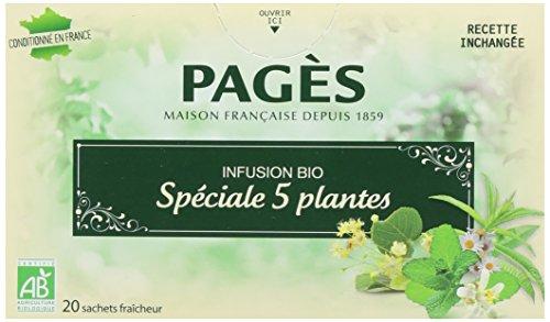 Pagès Infusion Spécial 5 Plantes Bio 20 sachets