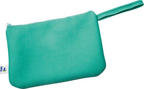 Fa Sommer Bikini Strandtasche mit Reißverschluss in grün, 1er Pack (1 x 1 Stück)