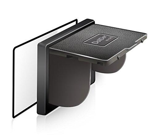 DolDer Glas Displayschutzfolie mit Sonnenschutz kompatible mit Sony A7II/A7RII/A7SII/A77II/A99II/A7III/A7RIII/A7SIII/A7 M3, Metallrahmen, Selbstklebendes gehärtetes Glas Protektor einweg