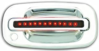 IPCW CLR99S18F Chrome with Red LED and Smoke Lens Front Door Handle with Both Sides Key Hole - Pair