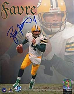 Brett Favre Autographed 8x10 Photo- Running Collage - Autographed NFL Photos