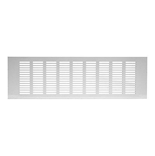100x500mm Aluminium Lüftungsgitter Weiß Stegblech Lüftung Alu-Gitter Gitter Möbelgitter Möbellüftung RA1050