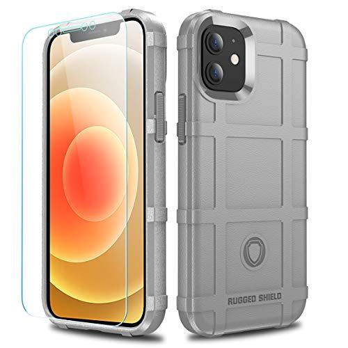 LABILUS Schutzhülle für iPhone 12 Mini (13,7 cm / 5,4 Zoll), TPU, dick, robust, taktisch, betongrau
