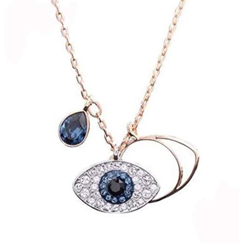 Halskette Blaue Auge viel Glücksbringer kette Blaues-Auge Türkisch Nazar Kette Böser Blick Schutz Symbol Anhänger, Halskette Blaues Auge Edelstahl