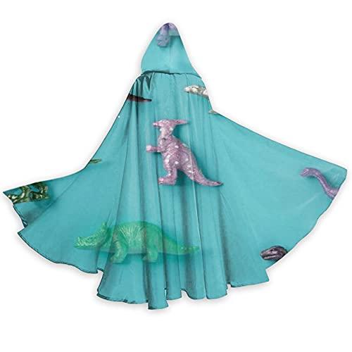 Disfraz de dinosaurio prehistrico de longitud completa con capucha capa capa de cosplay disfraz de lujo para Halloween decoraciones fiesta