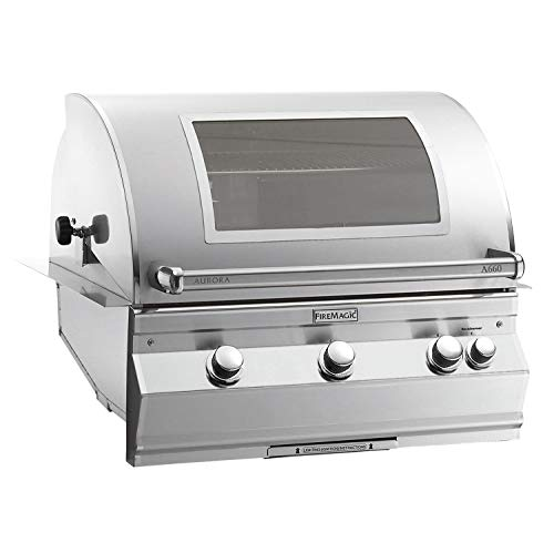 Fire Magic Aurora A660i Built-In Gas BBQ Grill with Analog Thermometer and Magic View Window - Propane - A660i-8EAP-W Grills Propane