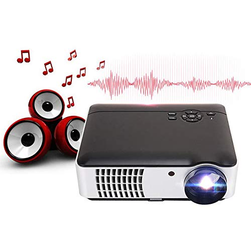 NCBH projector voor draadloos kantoor 3D HD projector Smart Home Android Android-systeem geschikt voor smartphone, tablet, huis, kantoor en reizen