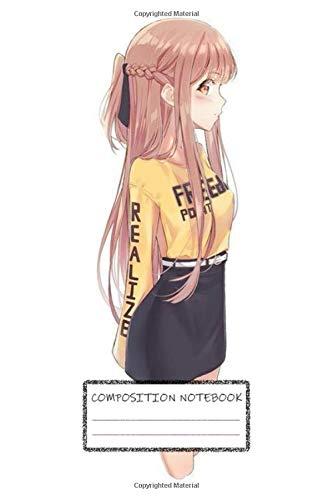 Composition Notebook: Asuna Yuuki Kazuto Kirigaya Naruto Kakashi Hinata Sakura Anime Manga Soft Glossy Cover College Ruled Lined Pages Book for Girls 6 x 9 Inches 100 Pages