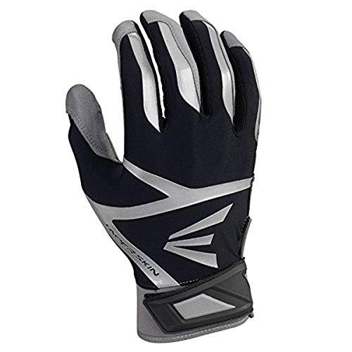 Easton Z7 VRS Hyperskin Batting Gloves, Gray/Black, Large