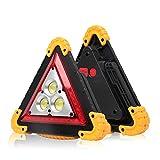 Verdelife Luce da Lavoro a Led, Pannocchia Ricaricabile da Esterno Manico Portatile Torcia Triangolare Riparazione Auto Luce da Lavoro Avvertimento Semaforo Luce di Emergenza