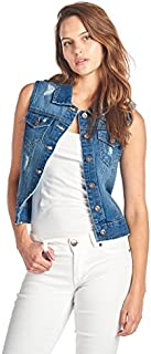Blue Age Womens Denim Jean Jacket and Sleeveless Vest
