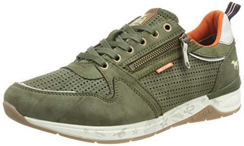 MUSTANG Herren 4164-302 Sneaker, Oliv, 44 EU