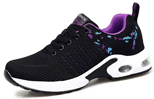 Chaussures de Course pour Femmes Chaussures de Running Mode Baskets Respirantes en Mesh athlétique léger Chaussures compensées Femmes été Sports Sneakers de Marche