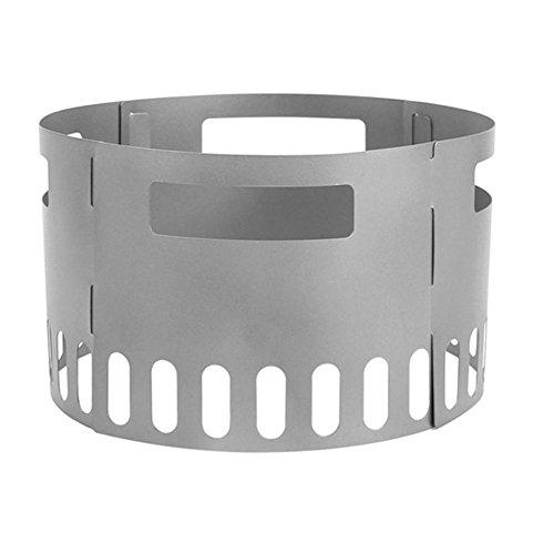 Axjzh Ultraligero Titanio Metal Madera Quemandose Hornillos