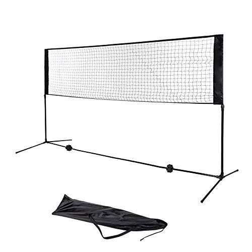 Dawoo 5 m tragbares Tennisnetz-Set – für Tennis, Fußball, Tennis, Pickleball, Kinder-Volleyball, Badminton – einfach aufzubauendes Nylon-Sportnetz mit Stangen.