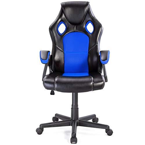 HEEGNPD PU lederen emmer stoel executive stijl bureaustoel racen 360 graden draaibare pneumatische stoel hoogteverstelling Game stoel 2