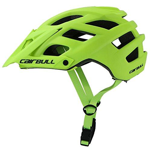 Cairbull City Aerodynamik Größe Specialized Fahrradhelm MTB Helm 55-61 cm Mountainbike Helm Herren & Damen Grün mit Rucksack Fahrrad Helm Integral 19 Belüftungskanäle