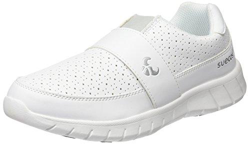 Suecos Edda, Zapatos de Trabajo Unisex Adulto, Blanco (White), 38 EU