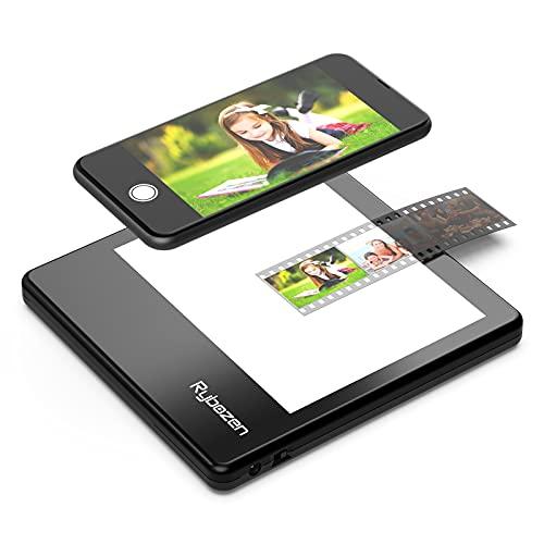 Escáner de Diapositivas portátil ultradelgado Rybozen 5 x 4 Pulgadas Panel de luz LED Diapositivas de Fotos negativas y Visor de películas