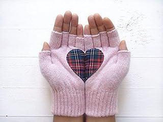 Heart Gloves, Fingerless Gloves, Valentine's Day Gloves, Couple Gloves