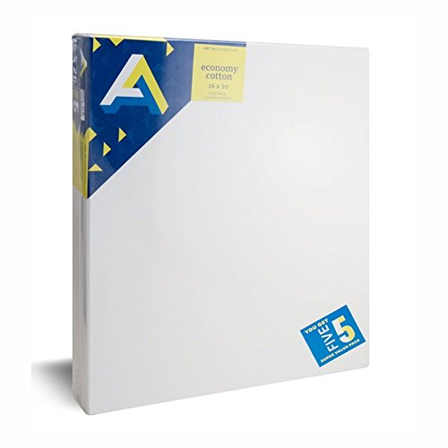 Art Alternatives Streched Canvas Super Value Pack-16 x 20 inches-Pack of 5