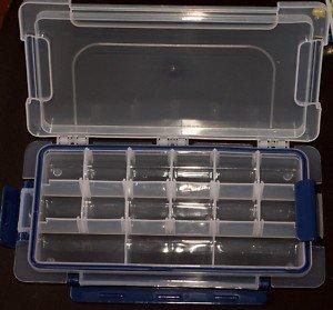 Riga tot 15 vakken plastic opbergdoos voor kralen (Box6)