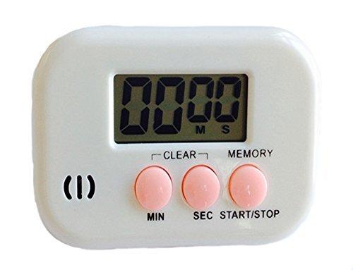 Nikgic Dibujos Portátil Digital Temporizador de Cocina para Cocinar Hornear Asar Loud Alarma Cronómetro Reloj Soporte magnético Contando el Cronómetro Rojo