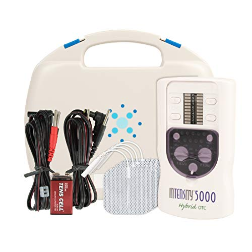 InTENSity 5000 TENS Unit - Professional OTC TENS Machine and Back Pain Muscle Stimulator - Back Pain, Neck Pain, Nerve Pain Relief, White, Hand Held