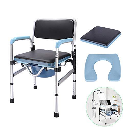 Toilet chair HXLQ Silla De Aseo Ancianos, Asiento De Inodoro Plegable Hogar...