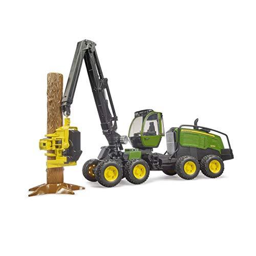 bruder 2135 John Deere 1270G Harvester mit 1 Baumstamm