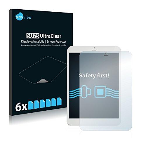 """Savvies 6X Schutzfolie kompatibel mit i.onik TM3 Serie 1-7.85"""" Bildschirmschutz-Folie Ultra-transparent"""