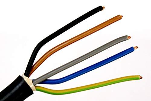 METERWARE Erdkabel NYY-J 5x6 mm² RE schwarz 5x6 qmm RE Starkstromkabel Energiekabel - bestellte Menge entspricht der gelieferten Gesamtlänge